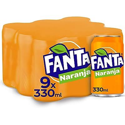 Fanta Naranja Lata - 330 ml (Pack de 9)