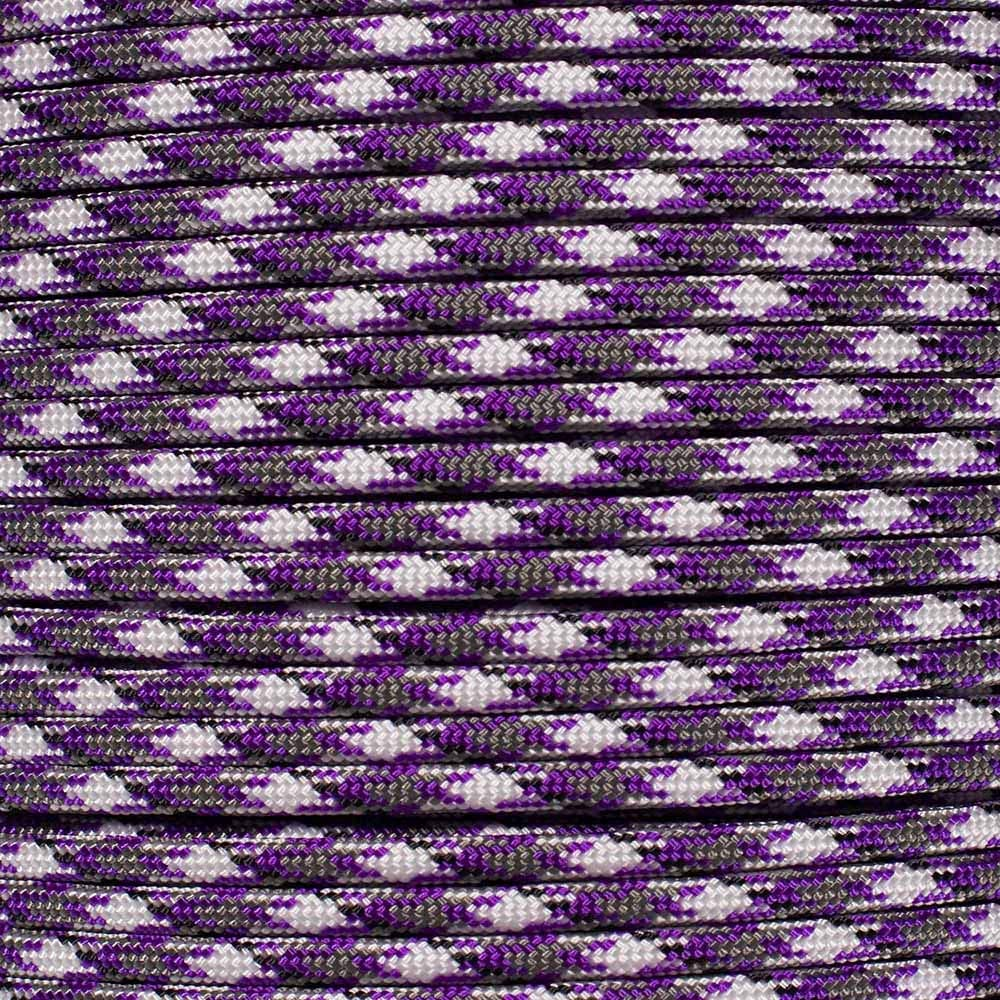 PARACORD PLANET 10 20 25 50 100 Foot Hanks and 250 1000 Foot Spools of Parachute 550 Cord Type III 7 Strand Paracord (Purple Passion Camo 25 Feet)