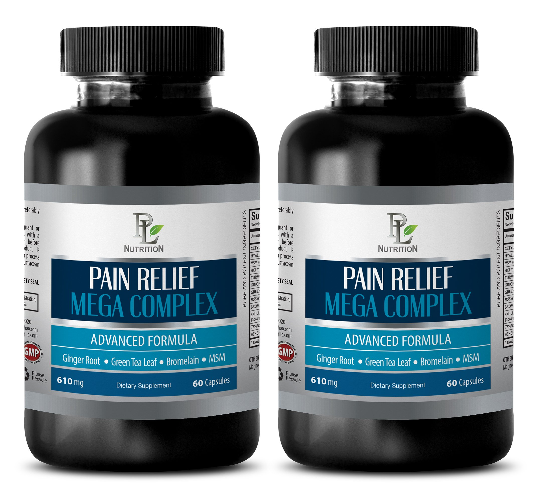pain away - PAIN RELIEF MEGA COMPLEX 610MG - green tea appetite suppressant - 2 Bottles (120 Capsules)