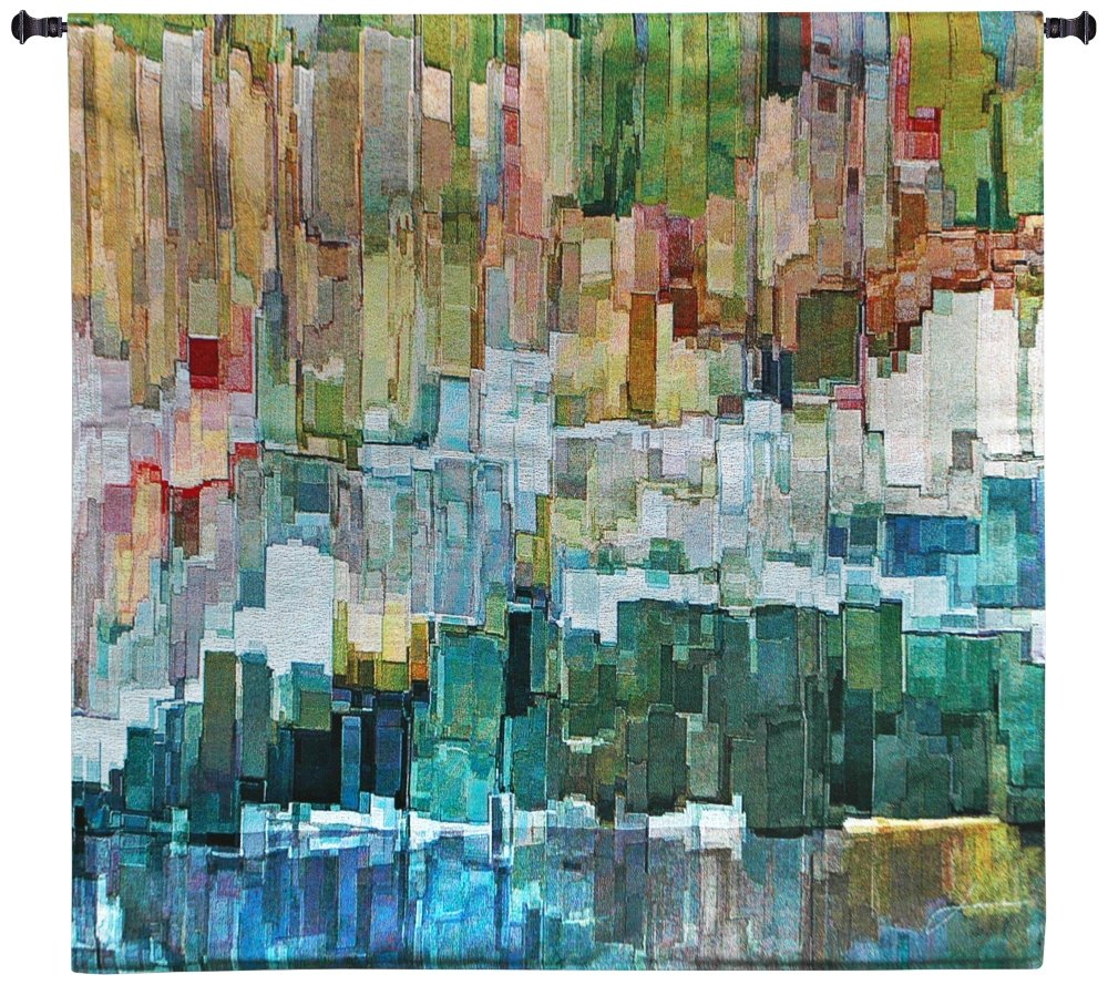 Glacier Bay III 31'' Square Abstract-Modern Wall Tapestry