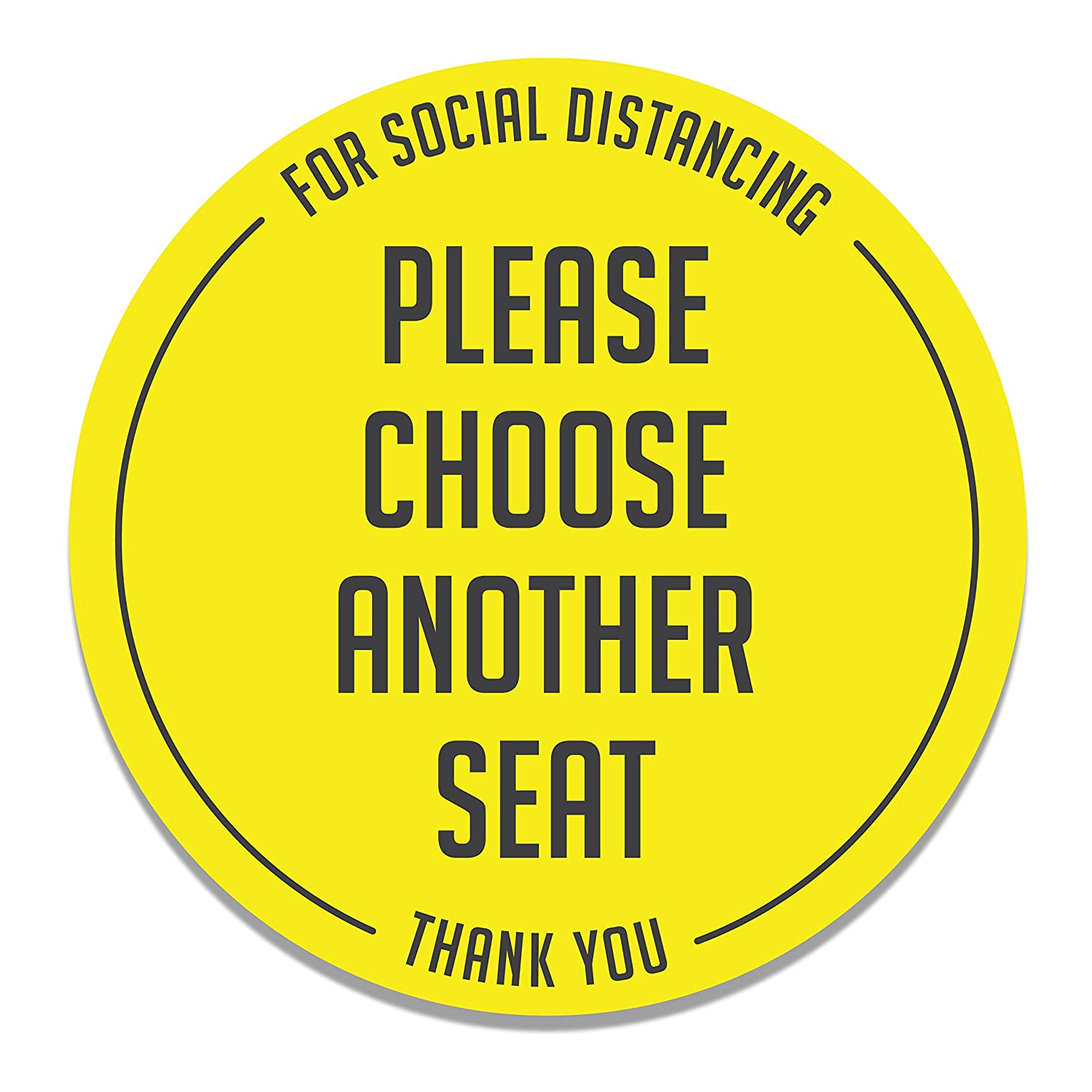 20 Pack Do Not Sit Here Sign 4 INCH Seat Sticker Social Distancing Social Distancing Decals