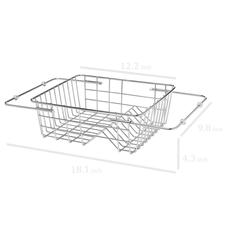 Kitchen Basket Amazoncom 9 Slot Stainless Steel Adjustable In Sink Dish