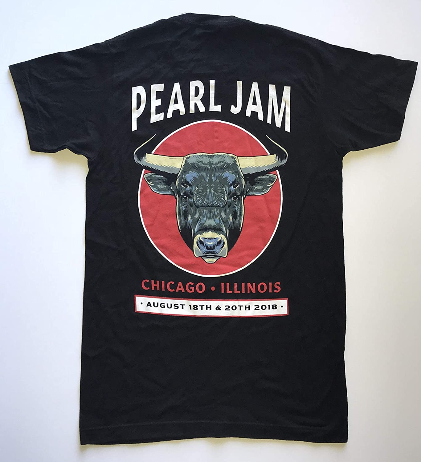 Pearl Jam wrigley field t shirt chicago 2018 tour xl 8/18 8/20 bulls logo