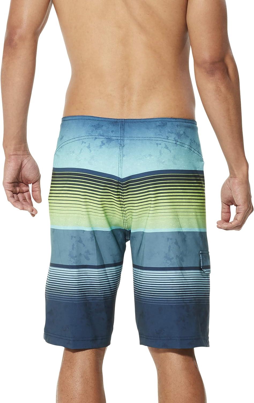 Speedo Mens Swim Trunk Mid Length Fitness Flex Tech