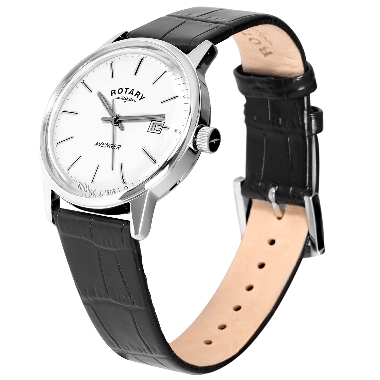 zoom wriswatch dial mens davis leather classic s men date moon product day month phase brown white watches watch strap l