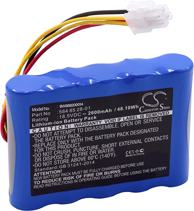vhbw Batería Compatible con Husqvarna Automower Modelo 310 (2015, 2016, 2017, 2018), Modelo 315 (2015, 2016, 2017, 2018) (Li-Ion, 2600mAh, 18.5V)