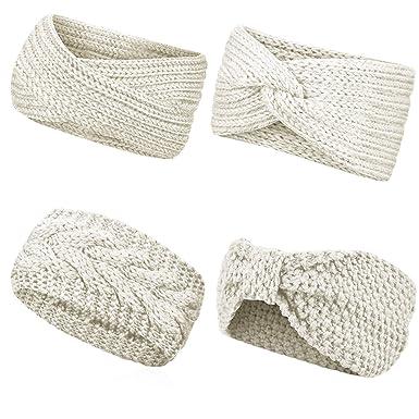 Wincret Stirnband Damen Mädchen Winter Häkeln Stirnbänder