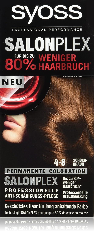 syoss 4 – 8 Chocolate Marrón Color del pelo (3 unidades, X 115 ml)