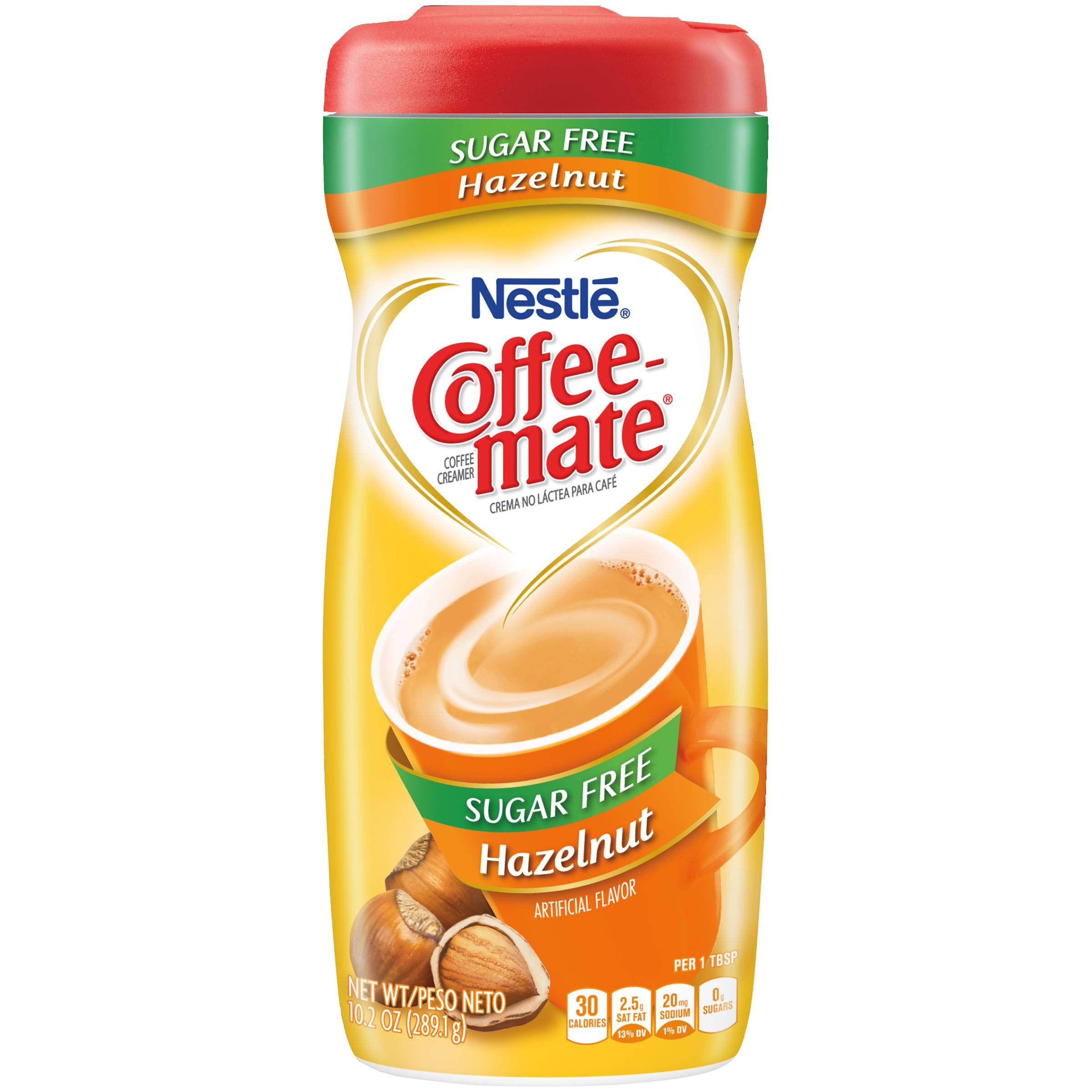Coffeemate Sugar Free HAZELNUT Coffee Creamer 10.2oz (Pack of 6) by Coffee-mate