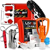 LIVABIT Dual Pack First Response Safety Tool Emergency Kit Venom Sting Extractor Pump & SOS Survival Multi Tool Pack