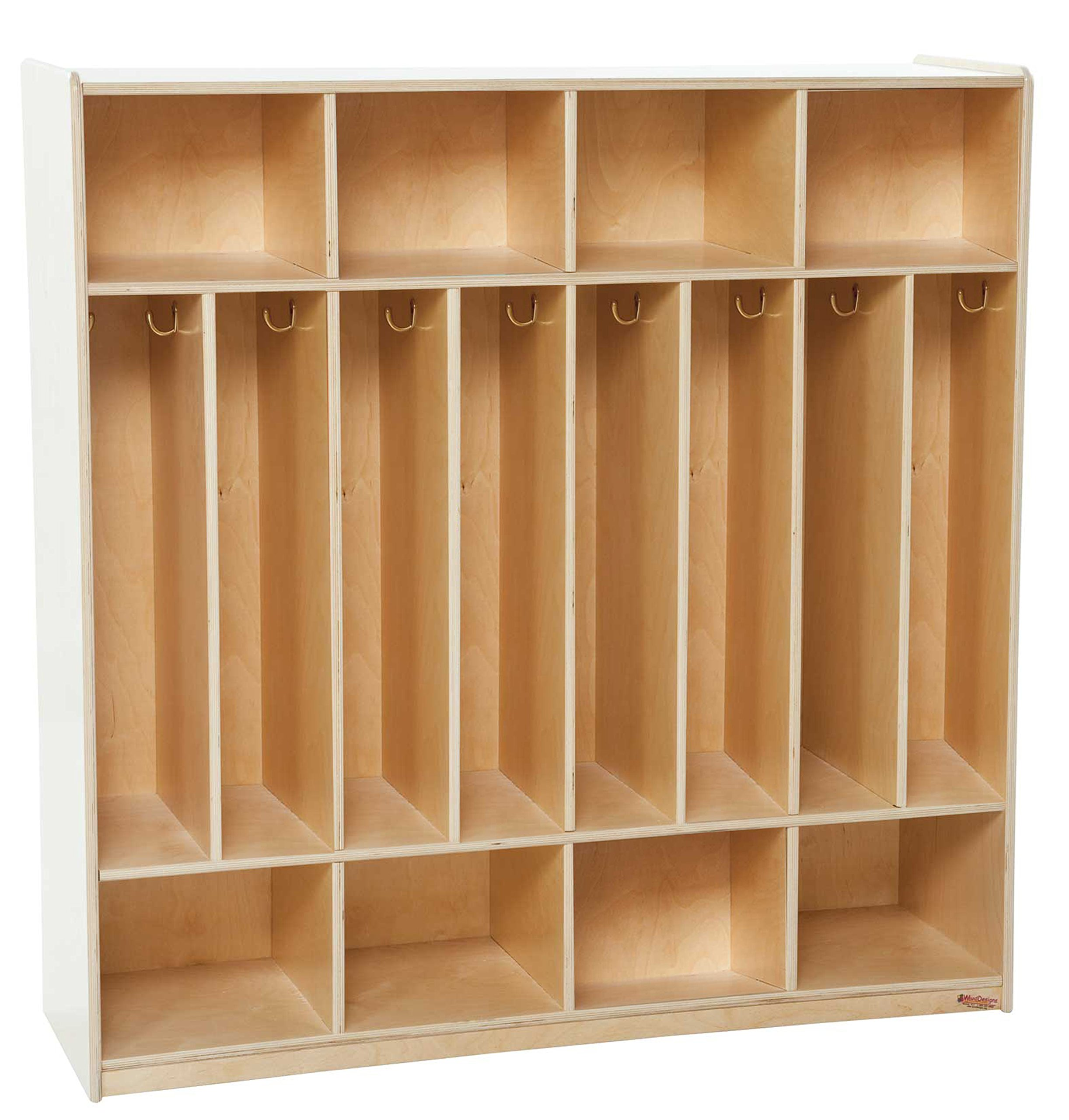 Wood Designs 51208 8 Section Space-Saver Locker, 49'' Height, 18'' Width, 51'' Length