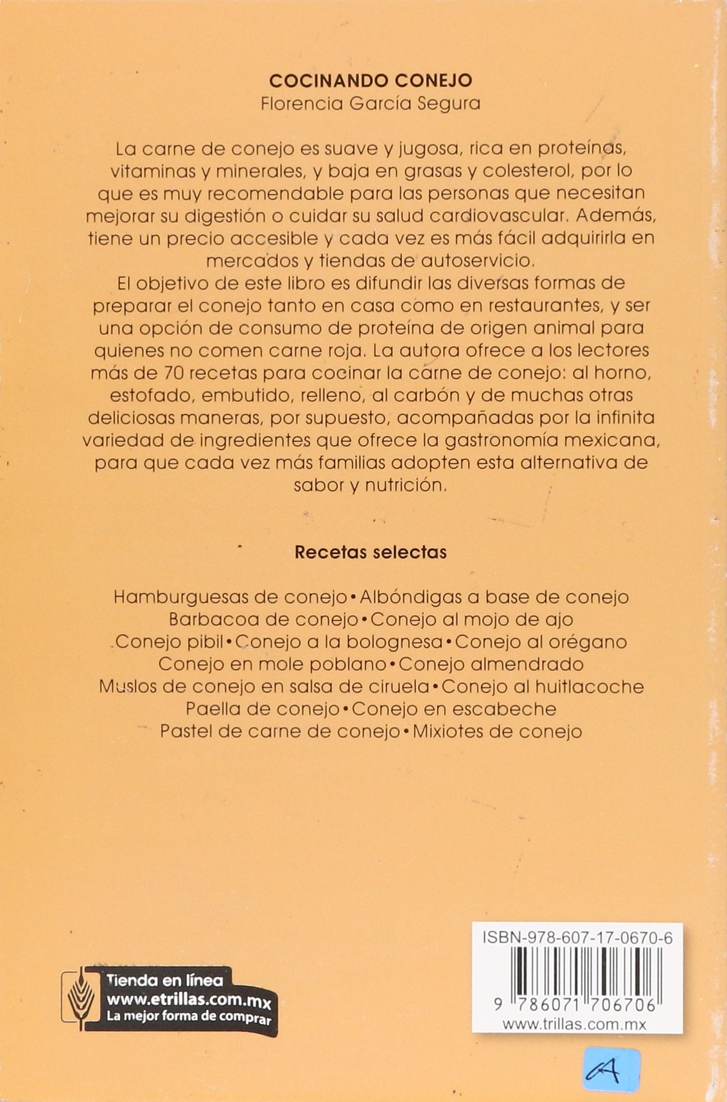 Cocinando conejo / Cooking Rabbit (Spanish Edition): Florencia Gracia Segura: 9786071706706: Amazon.com: Books