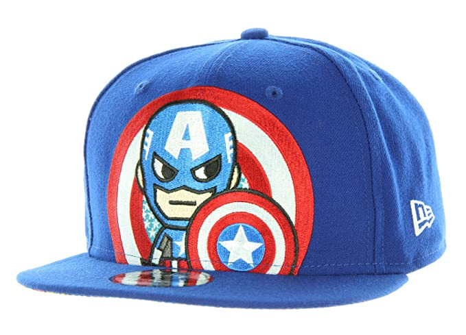9a339f40d53 Image Unavailable. Image not available for. Color  Tokidoki Marvel The Captain  New Era 9Fifty Men s Blue Snapback Hat