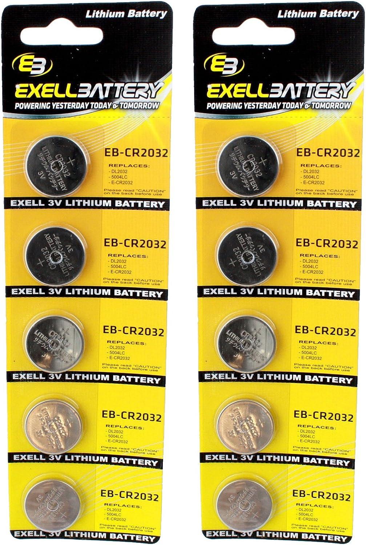 RFA-35 2X Exell 3-Volt Lithium Coin Cell Battery SB-T15 RFA-35-11 SBT15 KCR2032 LF-1//2V EA2032 KECR2032 ECR2032 CR2032 GPCR2032 200 Milliamp Hours 5-Pack Replace DL2032 GPCA14 SB-T51