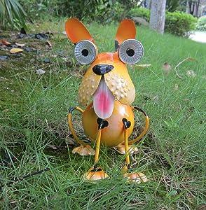 Dog Solar Lights Outdoor, Solar Animal Lights,Outdoor Dog Statue for Garden Decor Yard Lawn Ornaments