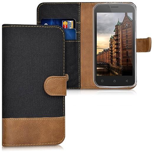 2 opinioni per kwmobile Custodia portafoglio per Lenovo B- Cover in simil pelle a libro Flip