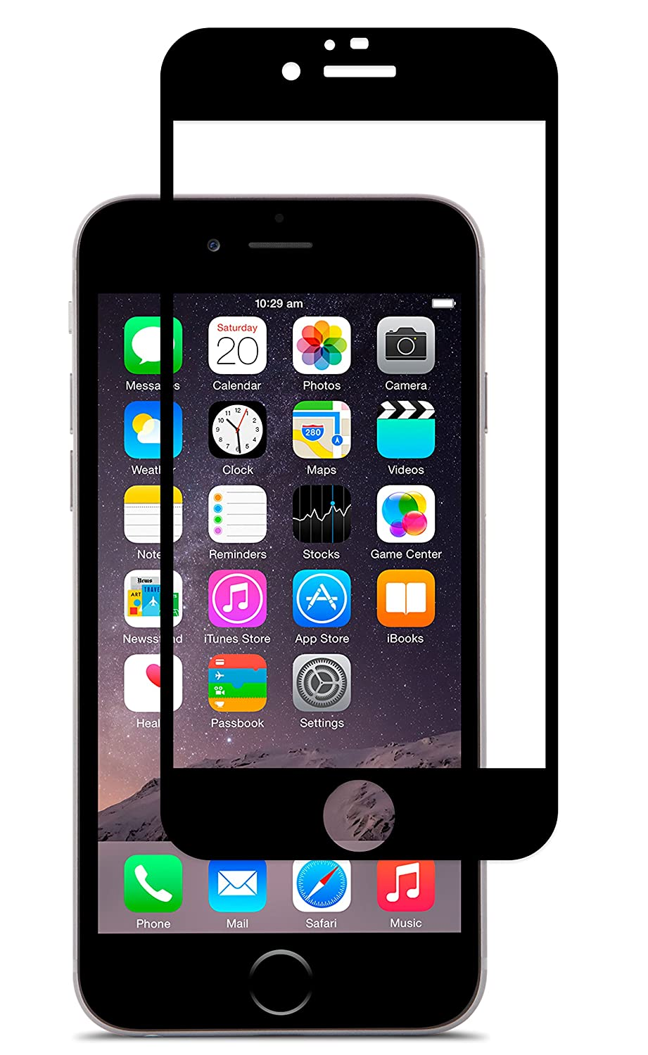 cheap for discount 7b0e2 2a598 Moshi iVisor AG Anti-Glare Screen Protector for iPhone 6, Black