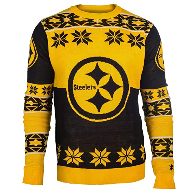 separation shoes d34d7 18f30 Klew Ugly Sweater Pittsburgh STEELERS, Small