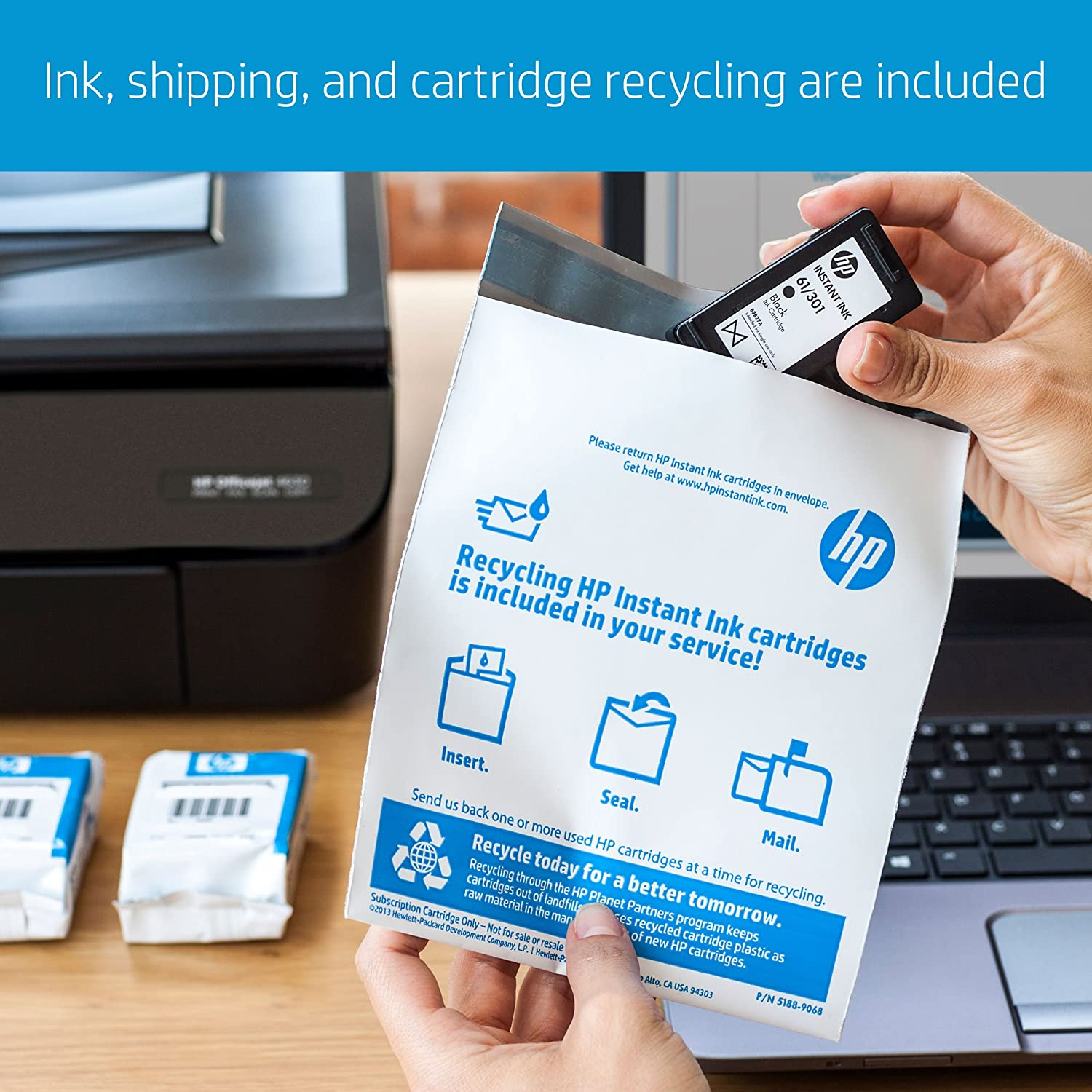 hp instant ink 1st month enrollment card 300 page