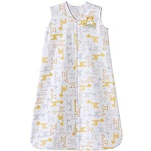 Halo Sleepsack Cotton Wearable Blanket, Golden Yellow Giraffe, Medium