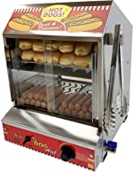 Paragon 8020 Hot Dog Hut Steamer Merchandiser for Professional Concessionaires Requiring