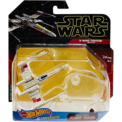 Hot Wheels Star Wars Starships X-Wing Fighter Red Five: Toys & Games [5Bkhe2007020]