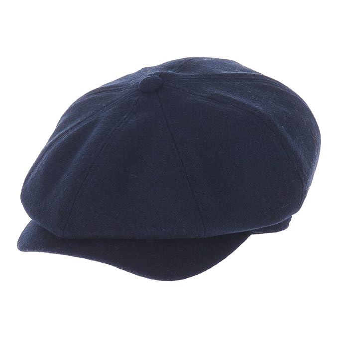 WITHMOONS Sombreros Gorras Boinas Bombines Newsboy Hat Wool Felt Simple Gatsby Ivy Cap SL3458 (Navy