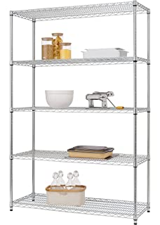 Awesome TRINITY EcoStorage 5 Tier NSF Wire Shelving Rack, 48 By 18 By 72
