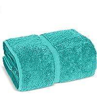 Towel Bazaar Premium Turkish Cotton Super Soft and Absorbent Towels (1-Piece Jumbo Bath Towel, Aqua Blue)