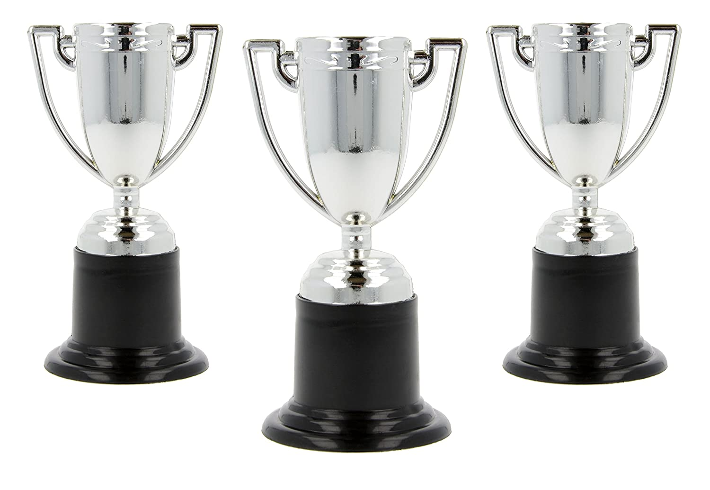 Storm&Lighthouse Piccoli trofei di plastica - Riempitrici per borse da party / Premi in classe / giocattoli per bambini / premi / Giocattoli di compleanno (12 (Oro e argento))