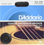 3 Sets of D'Addario EXP16 Coated Phosphor Bronze Wound Light Acoustic Strings