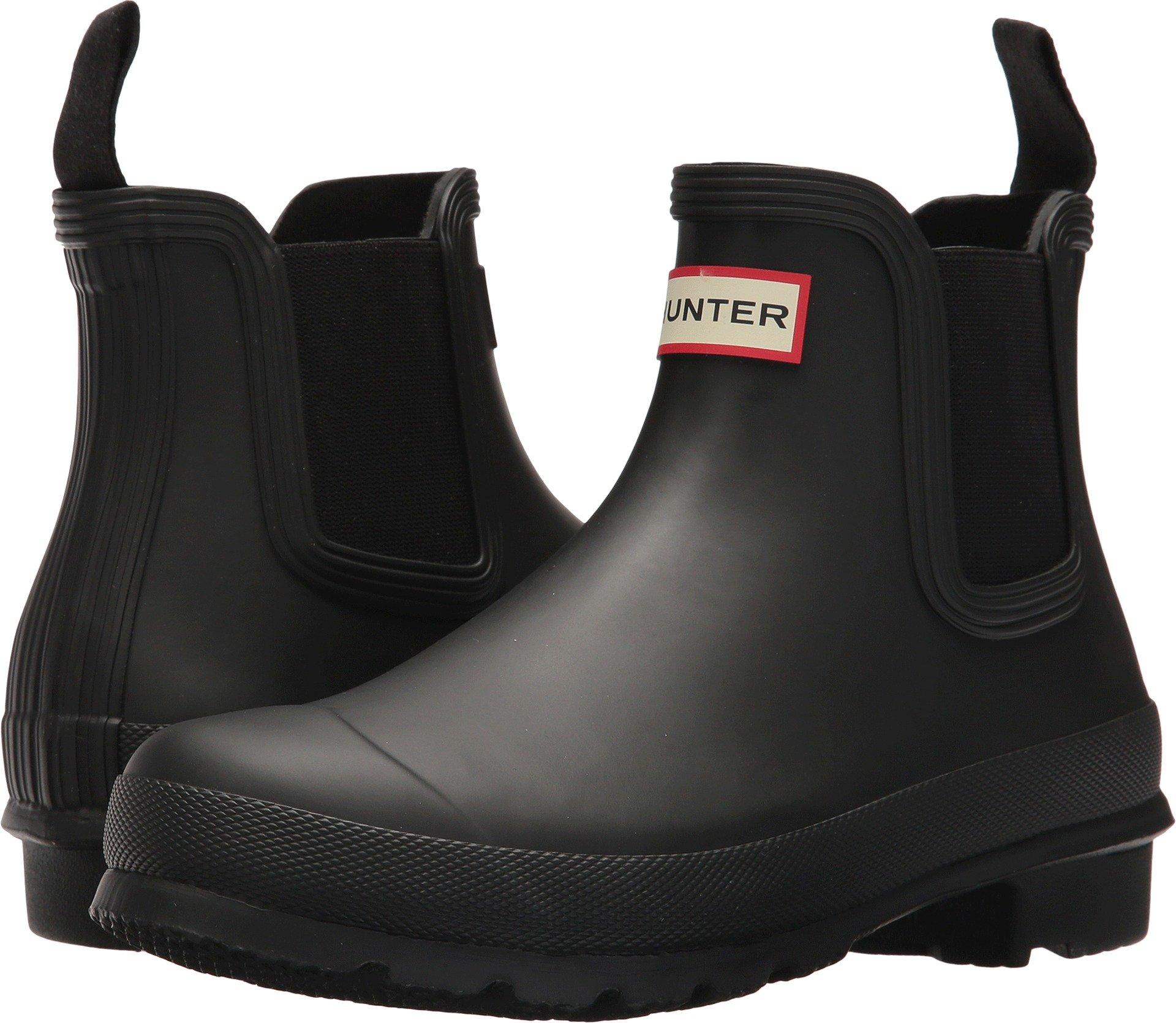 Hunter Boots Women's Original Chelsea Rain Boot Black 7 M US