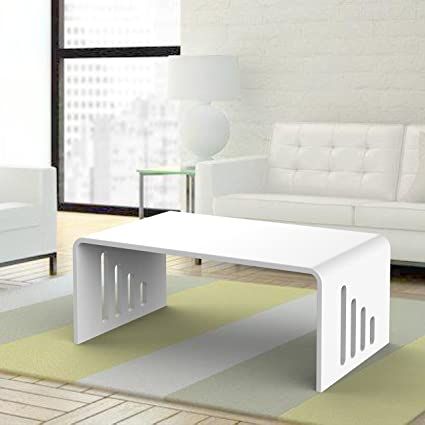 Lucite Coffee Table.Amazon Com Onelux White Lucite Cocktail U Table Acrylic Coffee Tea