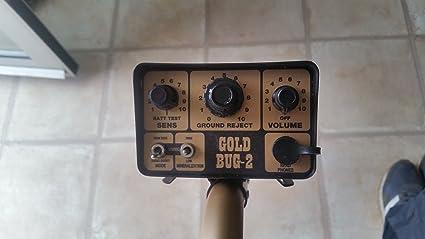 Fisher Oro bug-2 Detector de metales con bobina de búsqueda elíptica 6 1/