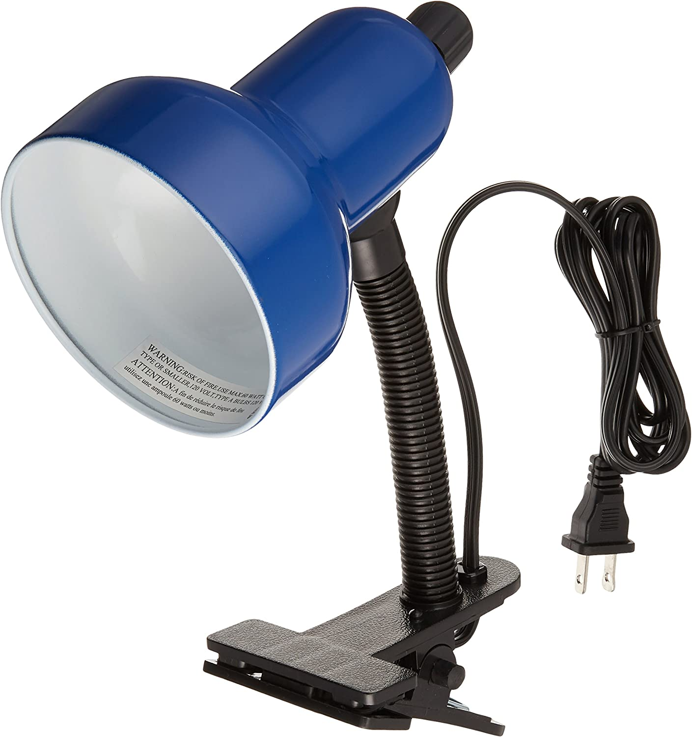 Lite Source LS-111BLU Clip-On Lamp, Blue