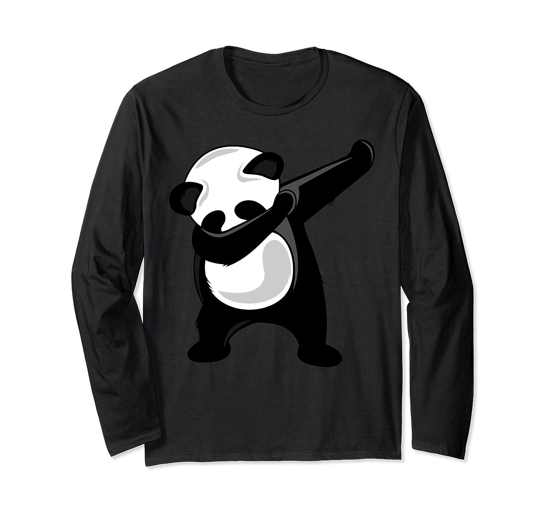 Dabbing Panda Shirt - Panda Bear Dab Dance Long Sleeve Shirt-alottee gift
