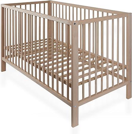 Baby Cama Cuna haya natural Cuna con somier 120 x 60 cm