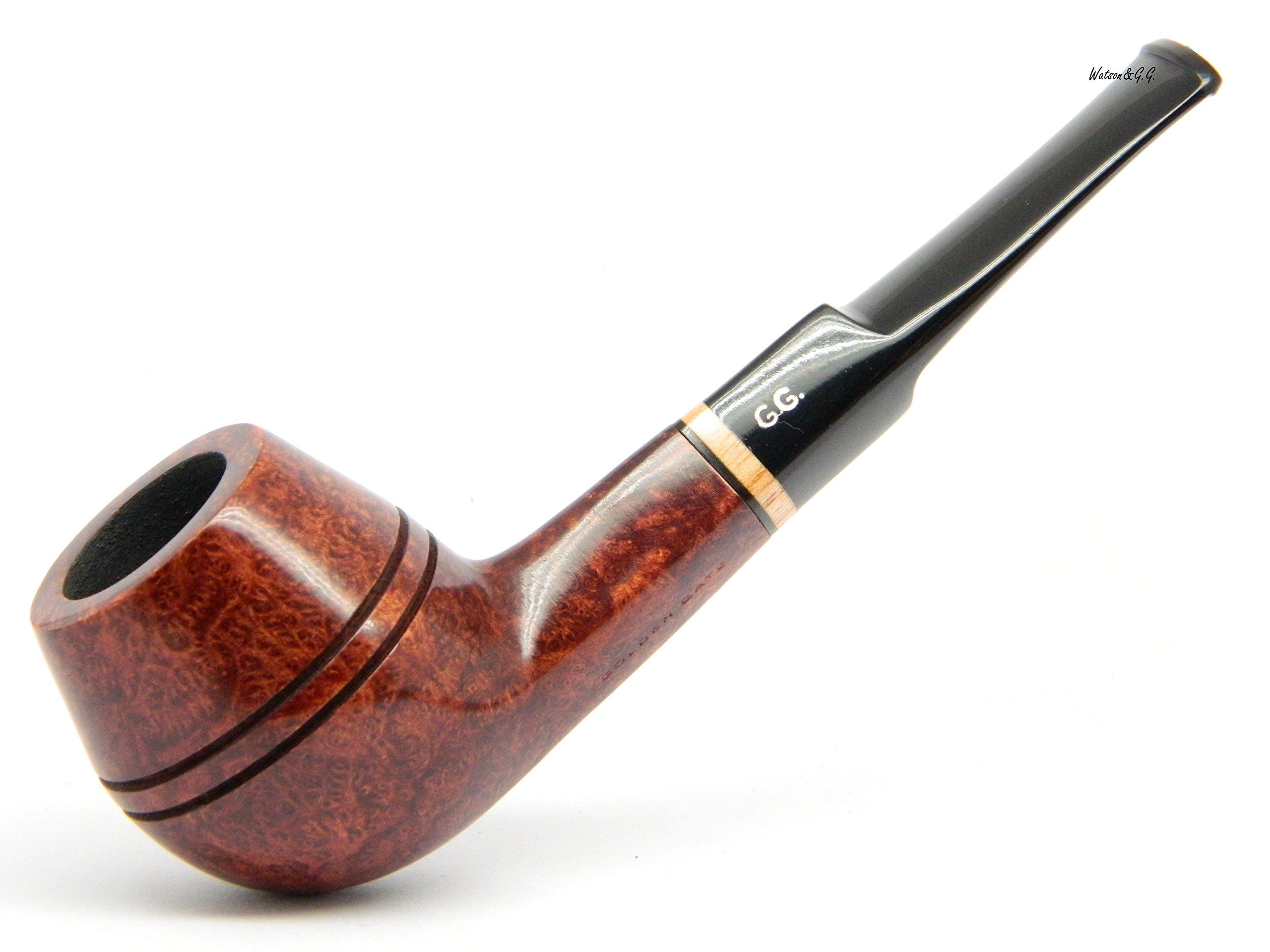 Watson&G.G. - Tobacco Smoking pipe - Bulldog - Hand Made (metal cooling filter) (Special edition for Watson) (Mahogany)