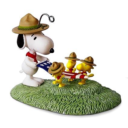 hallmark keepsake 2017 peanuts snoopy flag folding ceremony christmas ornament - Snoopy Christmas Ornament