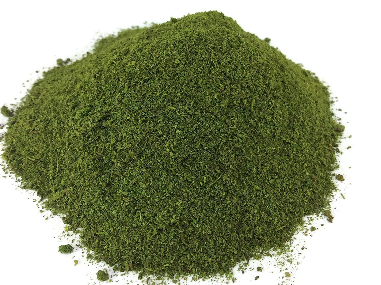 Fake Moss Powder 100 Grams in Pot Algae Thallophytic Plant Lichen Green Jardiniere Growing Plant Pot Handmade Thailand
