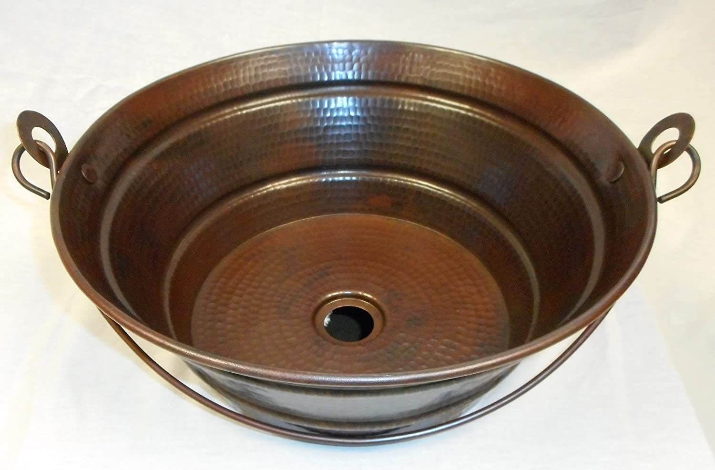 Copper bathroom vessel sinks
