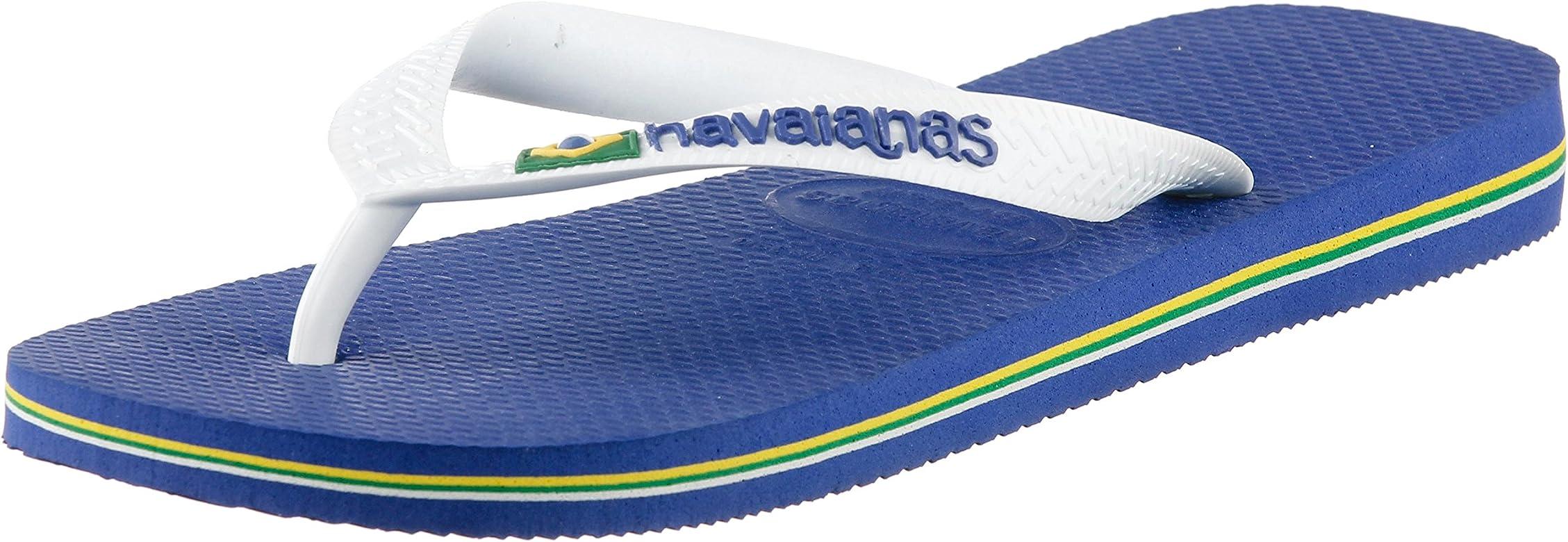 Havainas Slim White, Chanclas para Mujer, Marine Blue, 45/46 EU: Amazon.es: Zapatos y complementos