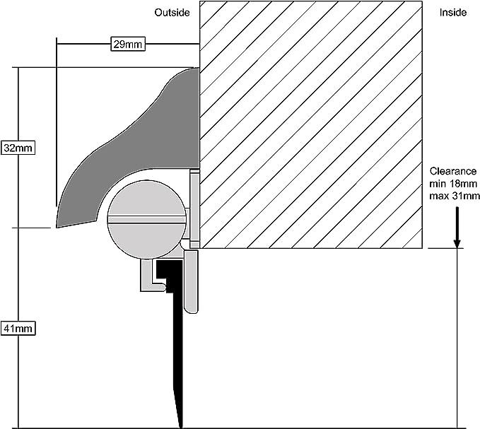/Madera Stormguard 14sr5480914wo 914/mm umbral Brydale X autom/ático puerta de madera/