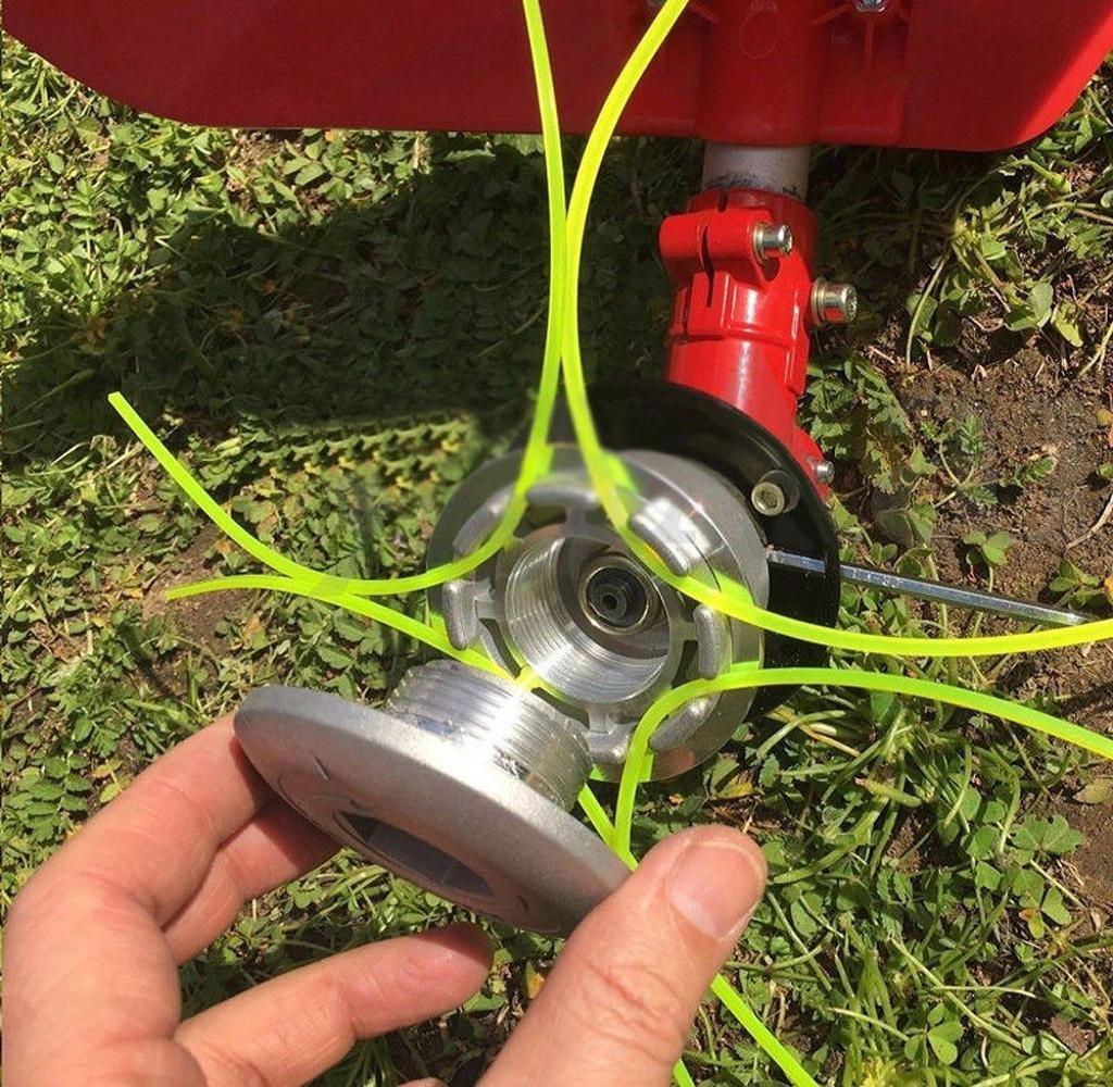 SWNKDG aluminio hilos de cortabordes la cabeza cabezal doble de ...