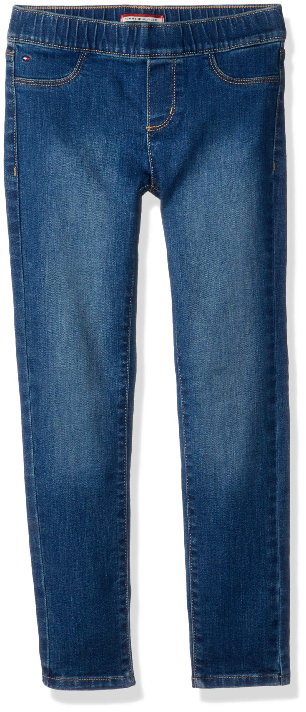 Tommy Hilfiger Girls' Adaptive Jegging Jeans with Elastic Waist and Adjustable Hems, KEITH wash 10 by Tommy Hilfiger (Image #1)