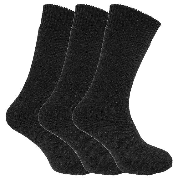 Calcetines térmicos y completamente acolchados para botas Mezcla de Lana hombre caballero (Pack de 3