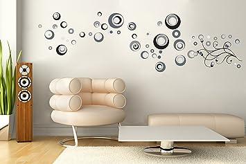 Sticker für Wand – Wandtatoos für Kinderzimmer, Wohnzimmer, Schlafzimmer,  Babyzimmer - Wanddeko Modern – 9 x 9x9cm Wandsticker Deko Set Folien