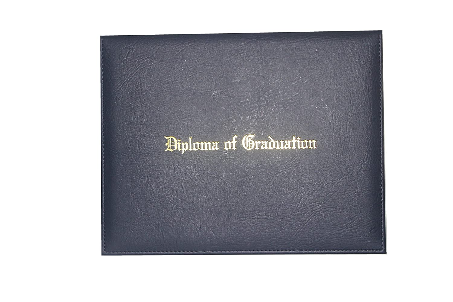 GraduationForYou PU Certificate Cover WithDiploma Of Graduation Gold Foil Embossed Four Ribbon Corner