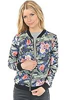 Freshlions Damen Blouson Bomberjacke mit Flower Prints in verschiedenen Farben