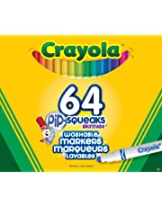 Crayola 64 Pip-Squeak Skinnies Markers, School and Craft Supplies, Gift for Boys and Girls, Kids, Ages 3,4, 5, 6 and Up, Holiday Toys, Stocking , Arts and Crafts,  Gifting